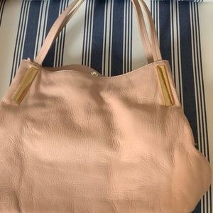 Vince Camuto blush leather hobo